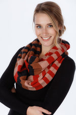 Load image into Gallery viewer, 4 TONE BLOCK COLOUR LOOP SCARF - Woolshed Gallery