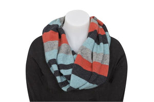 4 TONE BLOCK COLOUR LOOP SCARF