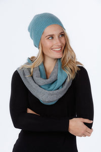 TWO TONE ENDLESS SCARF - Woolshed Gallery