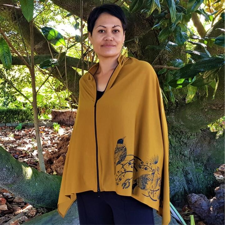TAKE FLIGHT ZIPPED PONCHO - Woolshed Gallery