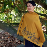Load image into Gallery viewer, TAKE FLIGHT ZIPPED PONCHO - Woolshed Gallery