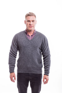 RACK STITCH V NECK JERSEY