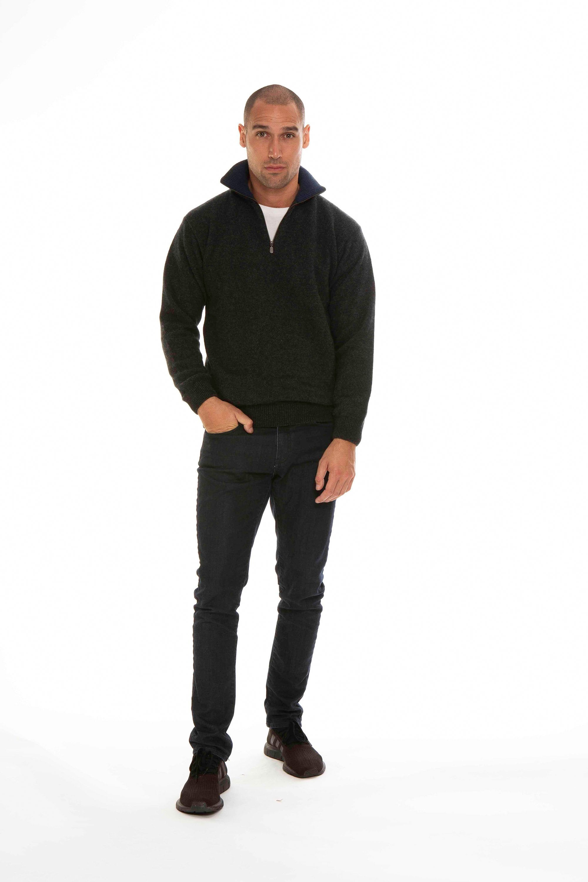 ZIP COLLAR JUMPER - Woolshed Gallery