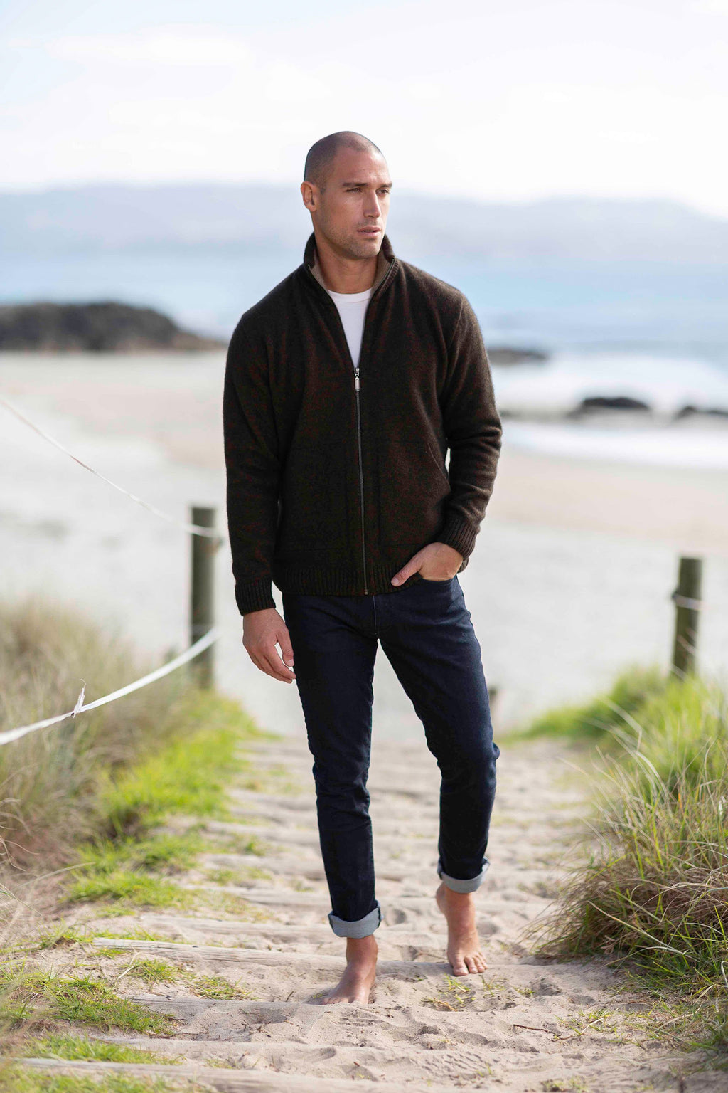 ZIP JACKET WITH POCKETS - Woolshed Gallery