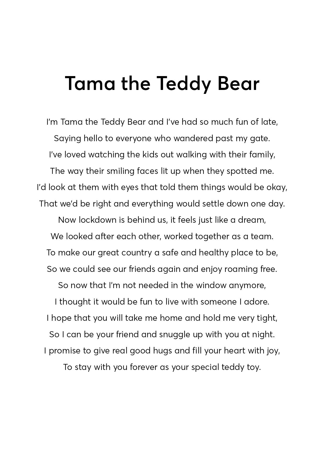 TAMA THE TEDDY