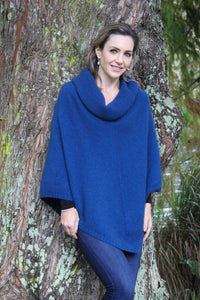 COWL NECK PONCHO - Woolshed Gallery
