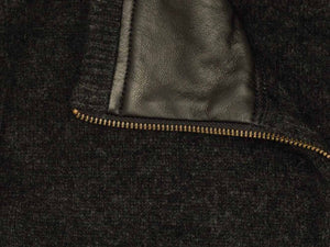 LEATHER TRIM VEST - Woolshed Gallery