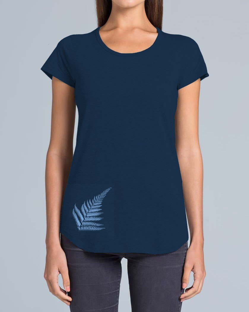 NATIVE FERN MERINO T-SHIRT - Woolshed Gallery