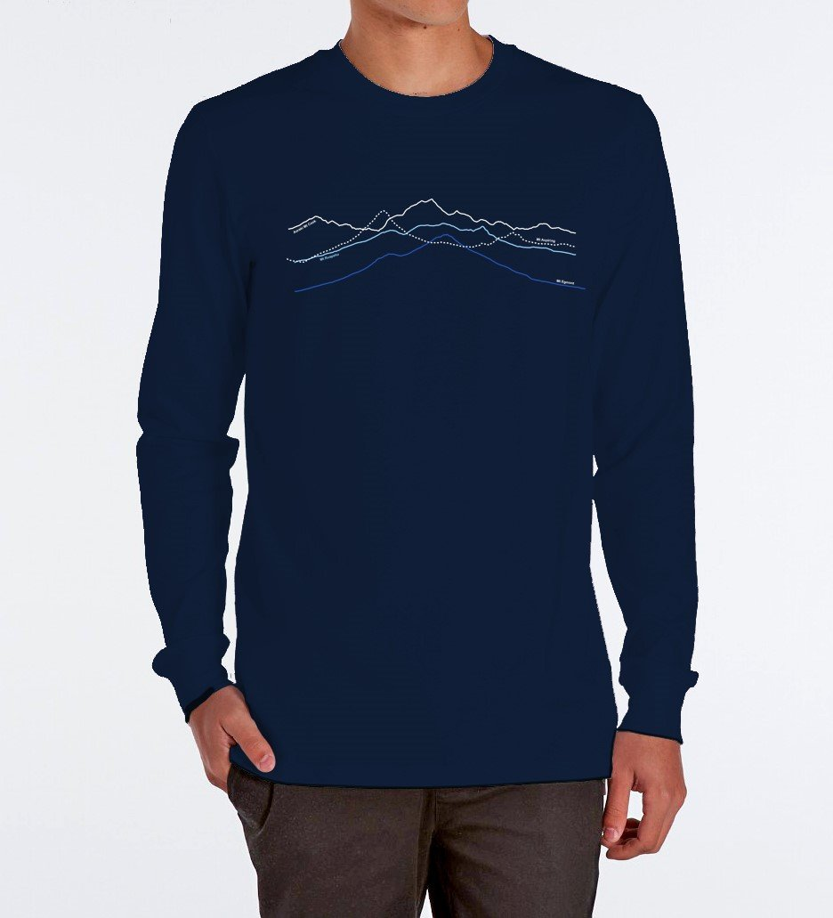MOUNTAIN PEAKS LONG SLEEVE MERINO - Woolshed Gallery