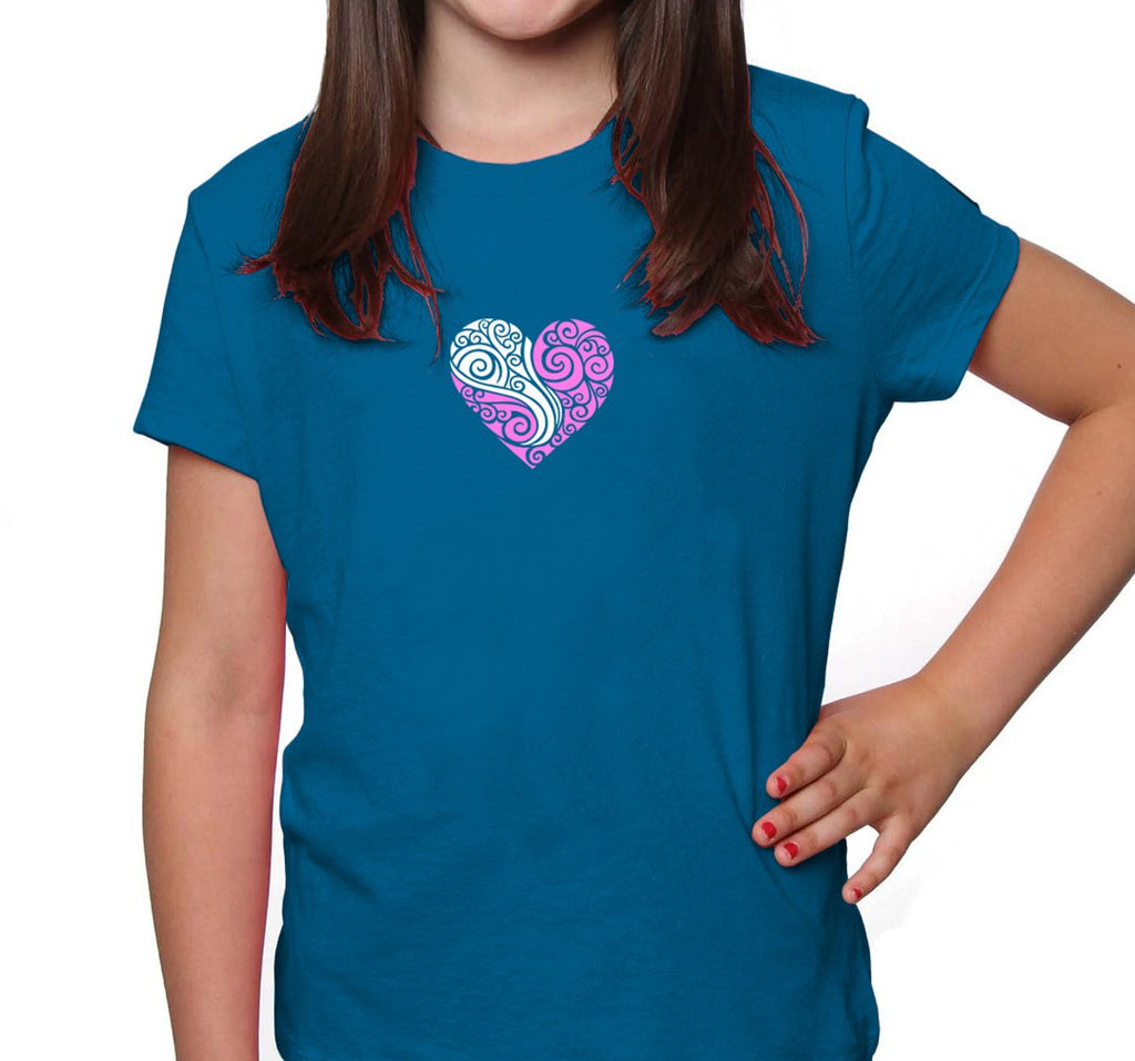 LOVEHEART CHILD'S MERINO T-SHIRT - Woolshed Gallery
