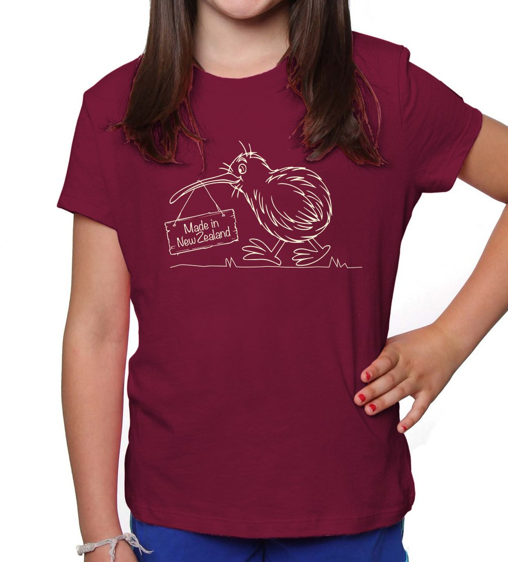 MADE IN NZ CHILD'S MERINO T-SHIRT - Woolshed Gallery