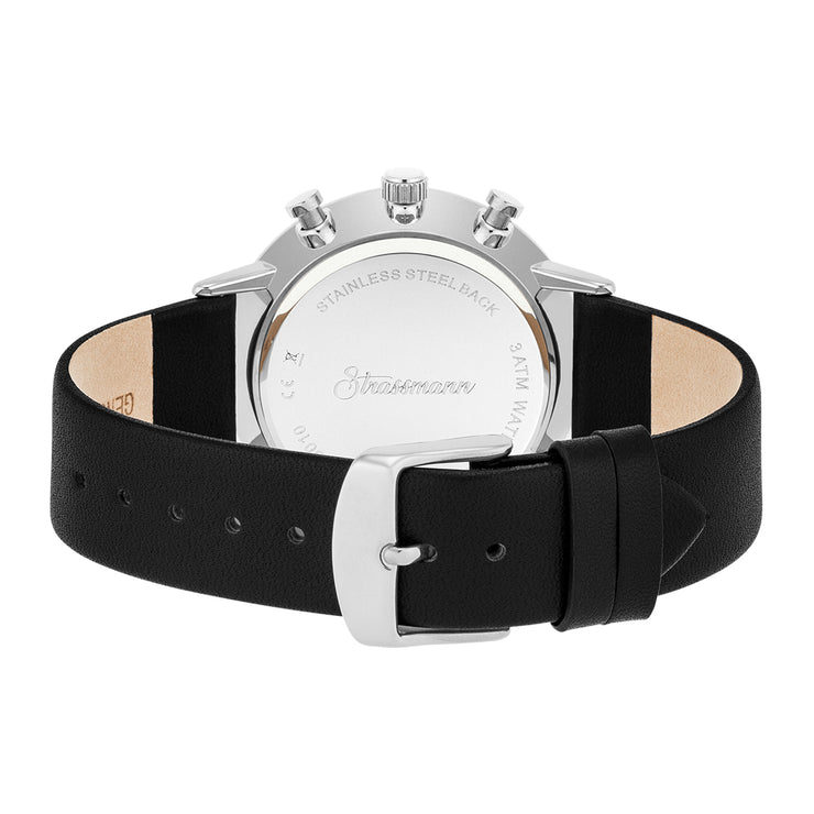 Gents watch black silver