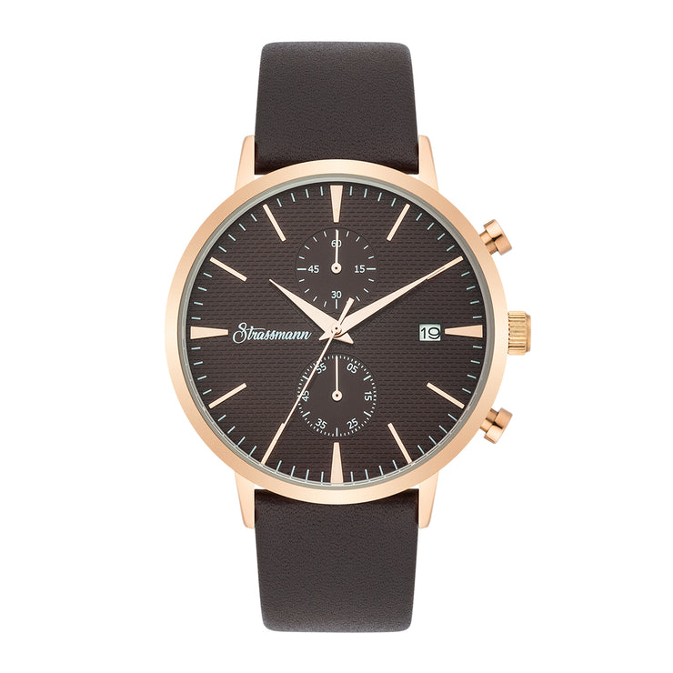 Gents watch brown rosé gold