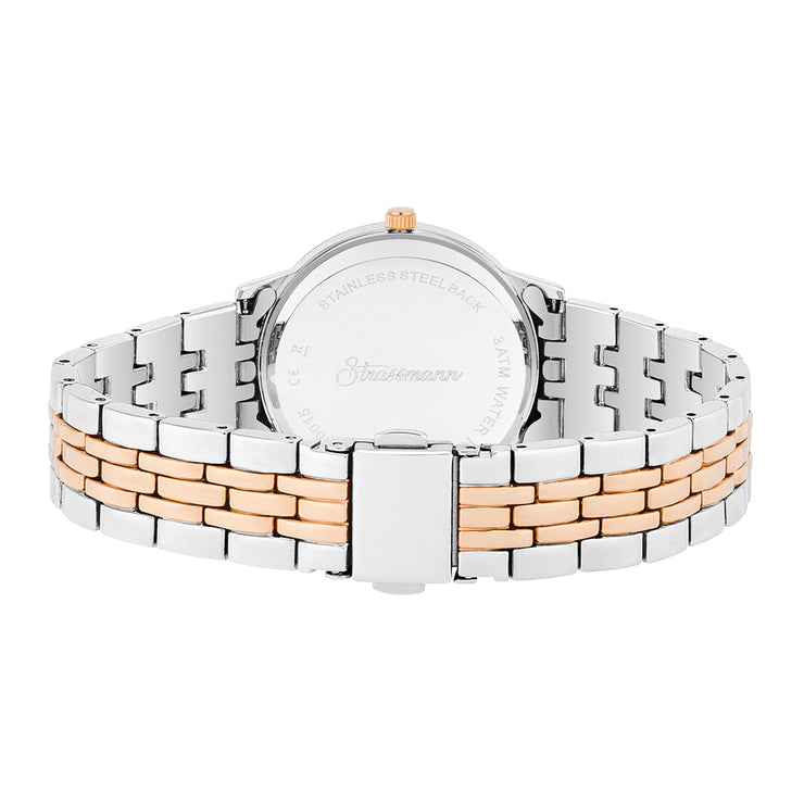 Ladies watch silver rosé gold