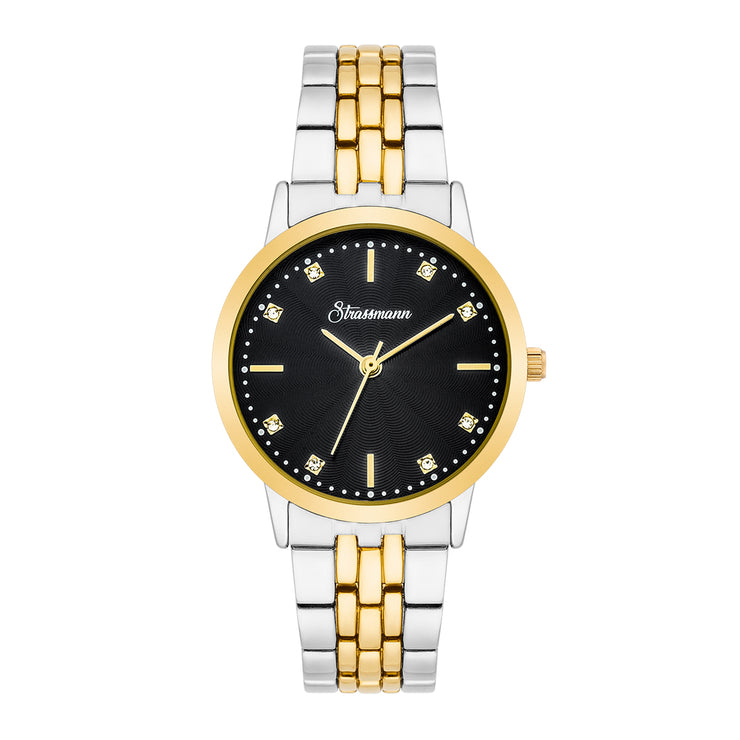 Ladies watch silver yellow gold
