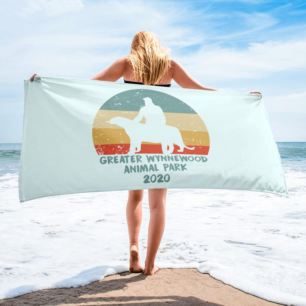Greater Wynnewood Animal Park Beach Towel on Beach