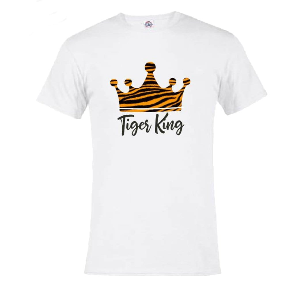 Tiger King Crown White T-Shirt