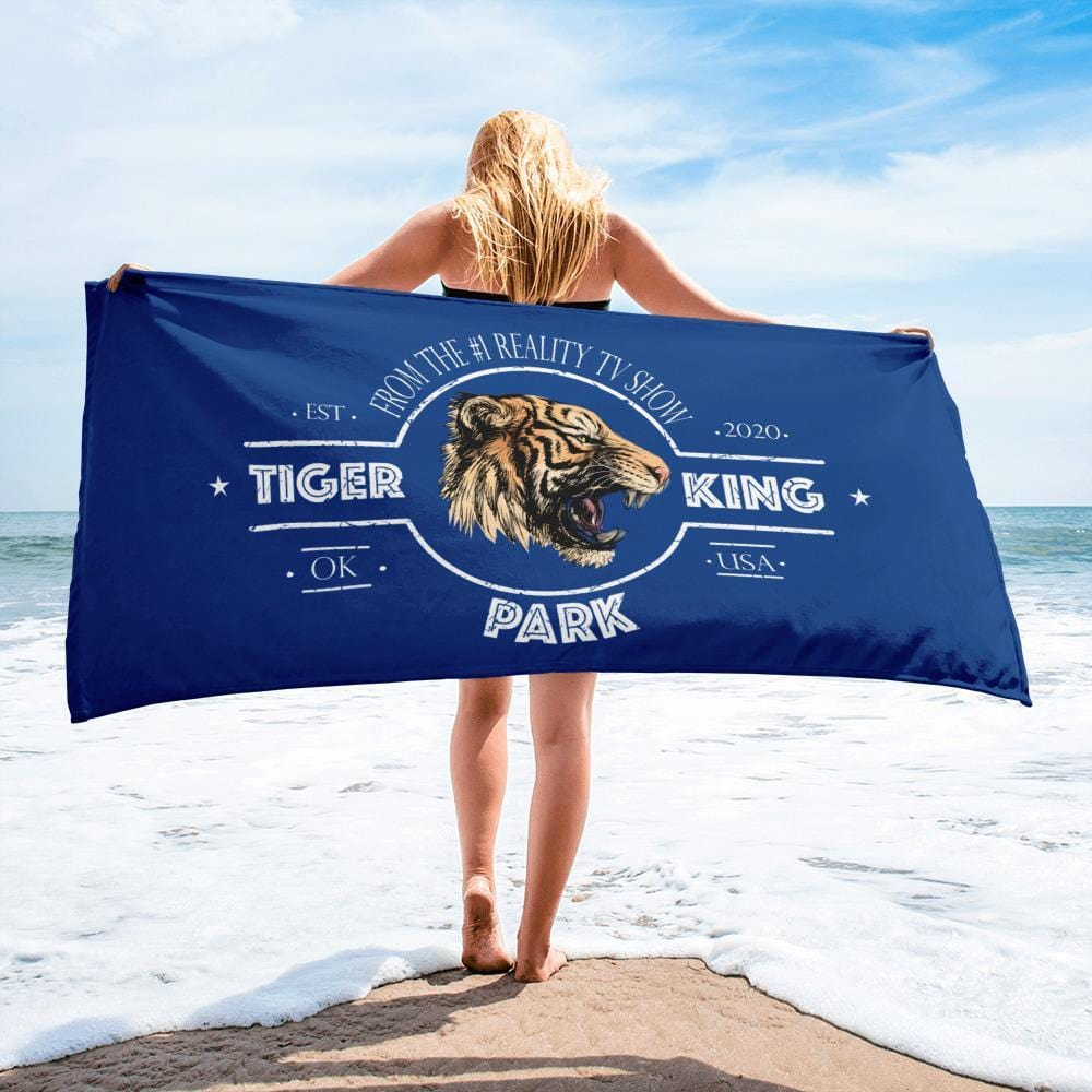 Tiger King Park Torea Bay Beach Towel On Beach