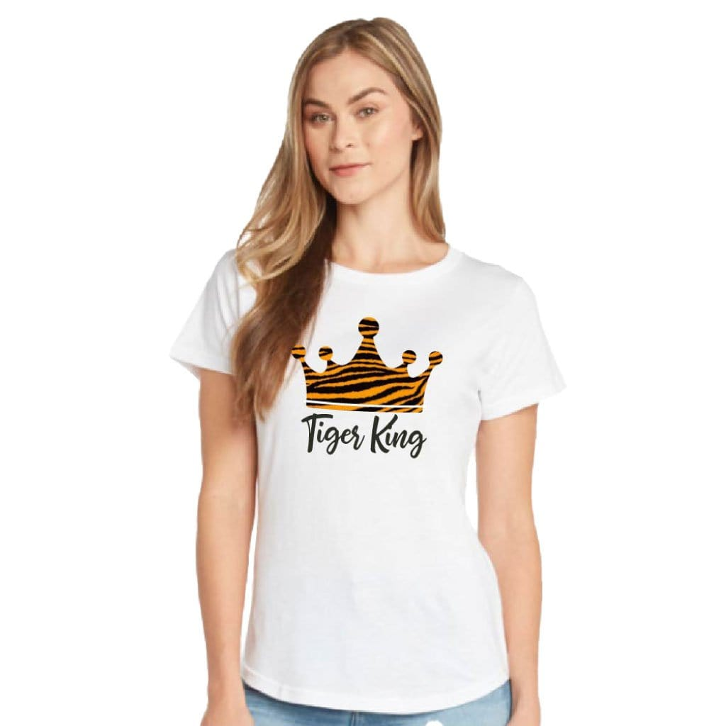 Tiger King Womens Glitter T-shirt