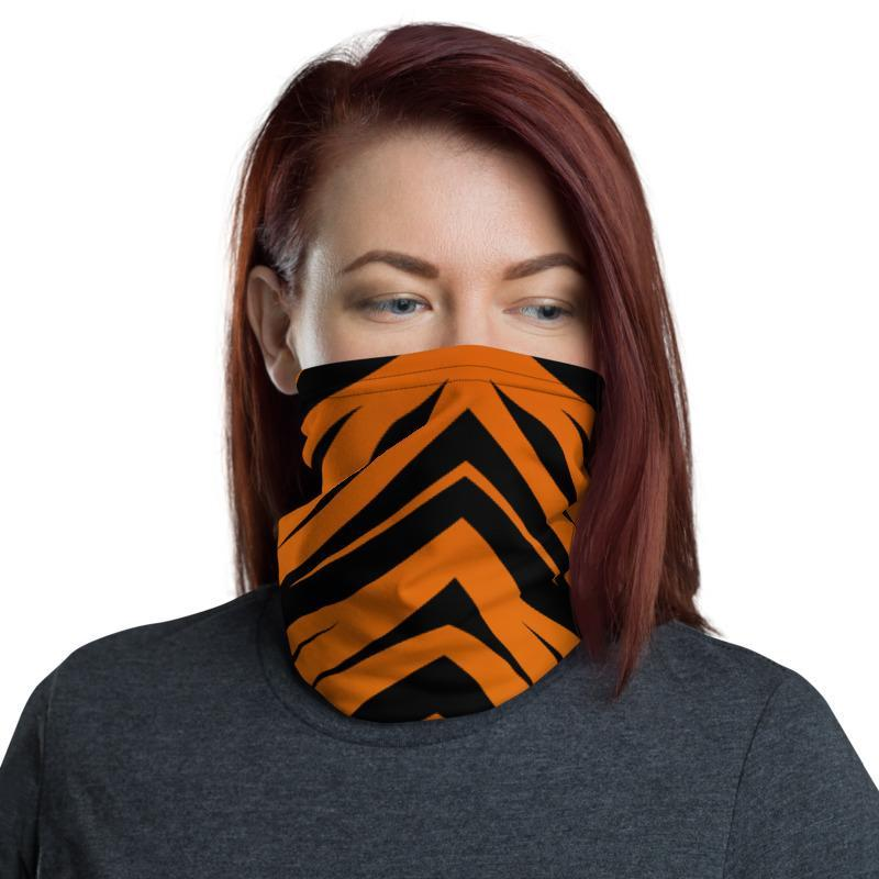 Tiger King Neck Gaiter Orange Tiger Print Face Mask Front