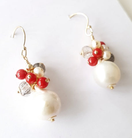 Edison barque Pearl Earrings
