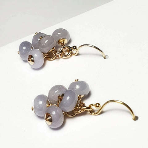 Purplite Earrings/ Lavander Jade/ 14K Gold Filled