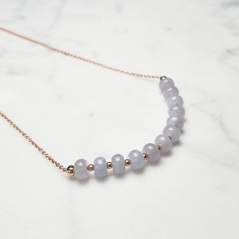 Lavender Jade necklace / Modern Minimal  / 14k Gold-filled