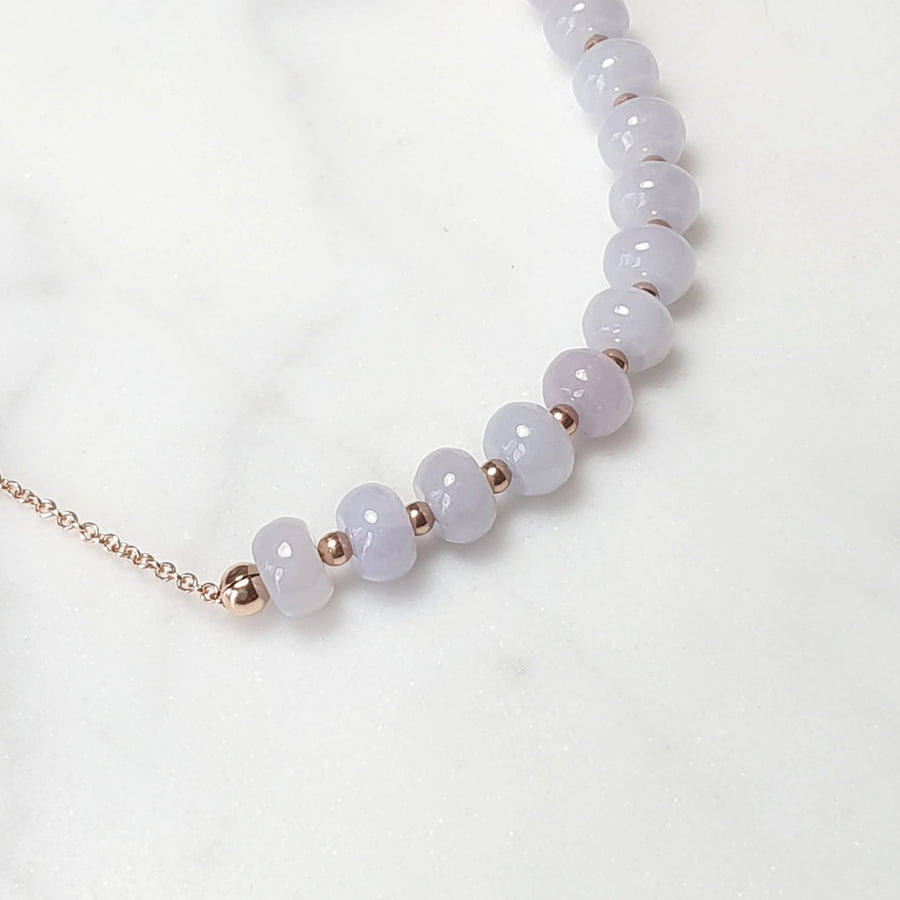 Lavender Jade necklace / 14k Gold-filled