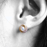 Koru-inspired Pearl Earrings
