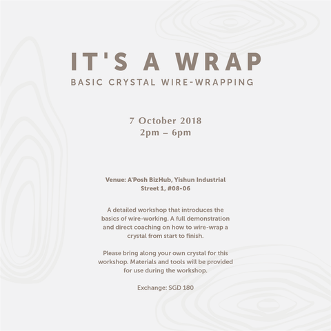 Workshop - It's A Wrap (7 Oct)