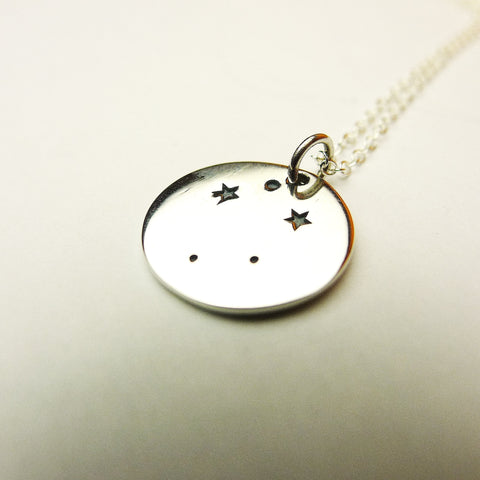 Sterling Silver Zodiac Constellation Pendant.