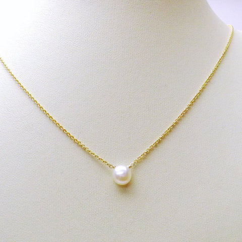 Tiny Creamy White Freshwater Pearl Necklace
