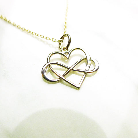 Infinity Heart Sterling Silver Necklace