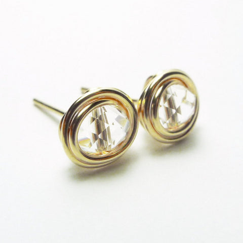 Clarity Clear Crystal Earstuds