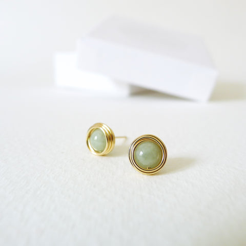 Nested Jade Stud Earrings
