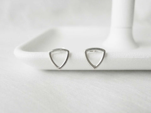 Triangle  silverstuds | 925silver studs | Simple Studs | Post earrings
