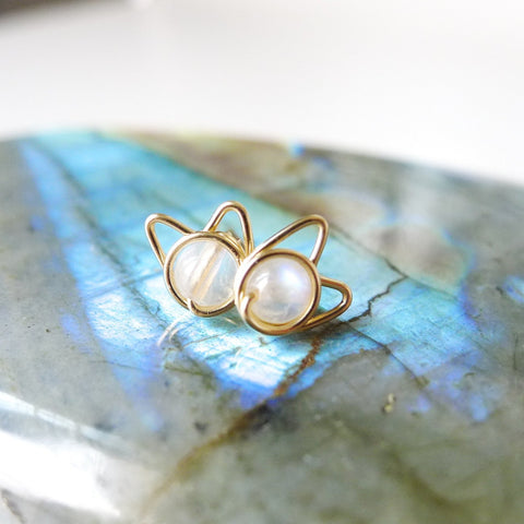 Moonstone Meowstuds