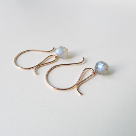 Fancy Earrings with Faceted Labradorite Stone