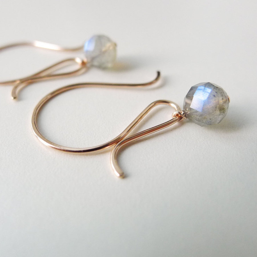 Whimsical Earrings with Labradorite Stone