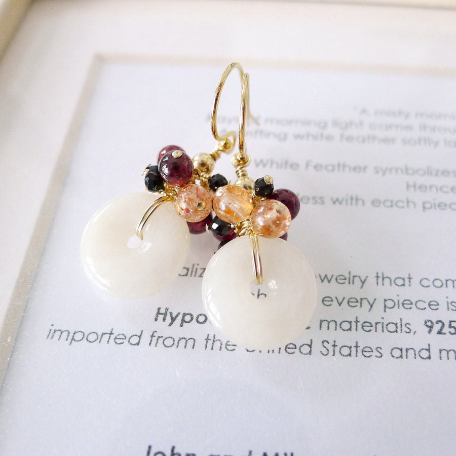 Myanmar Jade Donut Earrings - OOAK-H