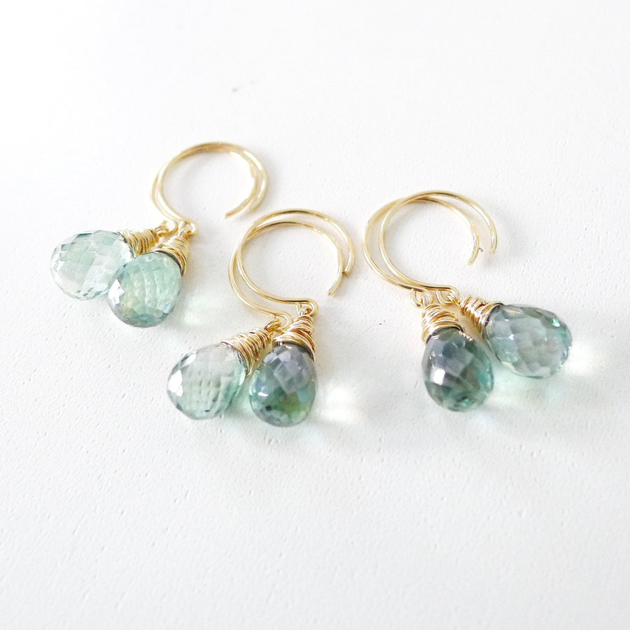Kathleen Earrings / Green Mystic Quartz