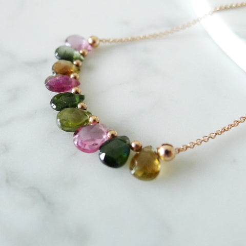 Monique Necklace / Watermelon Tourmaline