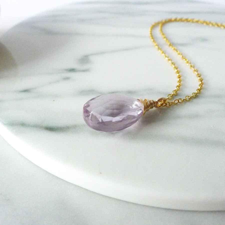 Haylee Necklace / Pink Amethyst