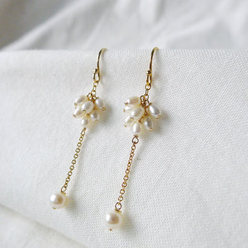 Ginevra Earrings / Fresh Water Pearls