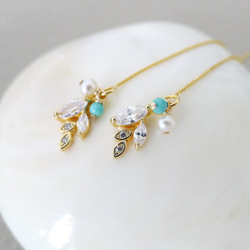 Chane Earrings / Freshwater Pearl | Turquoise