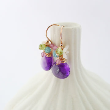 Alethia Earrings / Amethyst
