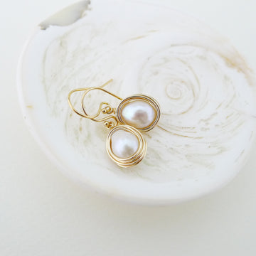Heli Earrings / Freshwater Baroque Pearl