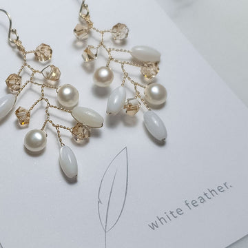 Charlotte Earring / Crystals | Pearls | Shells