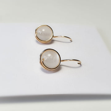 Moonstone Wrapped Drop Earrings (Extra Large) / 14k Gold-filled
