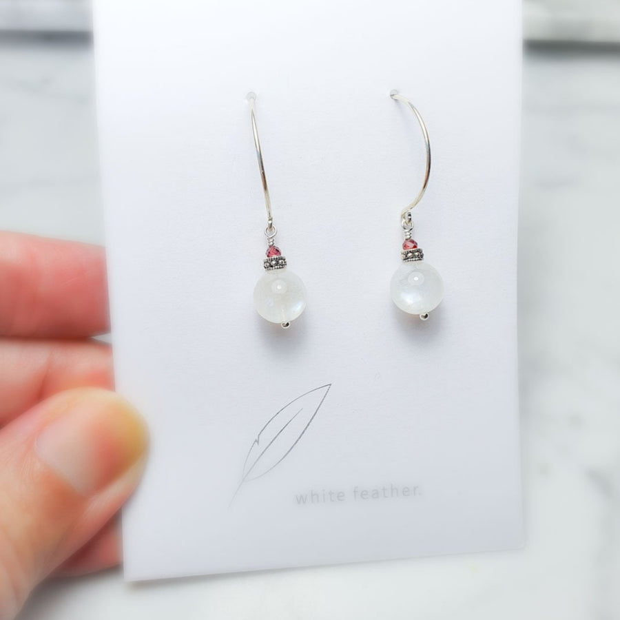 Moonstone earrings /8mm/silver925